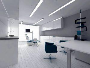 طراحی داخلی مطب دندانپزشکی شیک و مدرن در ارومیه