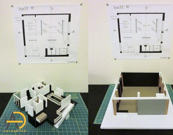مدل سه بعدی در حین ساخت