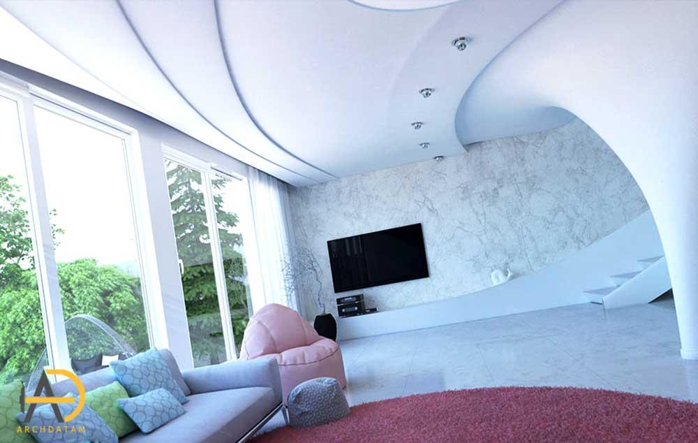 طراحی داخلی ویلا سیرجان