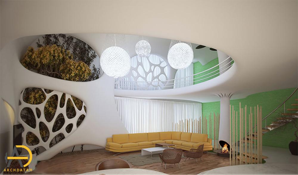 طراحی داخلی ویلا دوبلکس